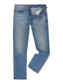 True Religion Dean Light Wash Mid Rise Jeans