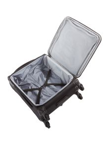 Aire black 4 wheel soft cabin suitcase