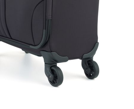 Antler Aire black 4 wheel soft cabin suitcase