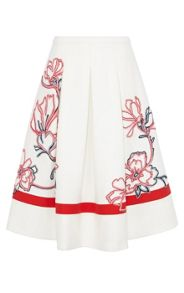 Karen Millen Full skirt with ribbon applique