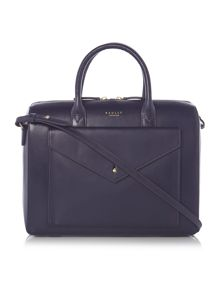 Keats grove navy tote cross body bag