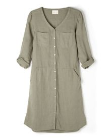 East Fitted Linen Dress