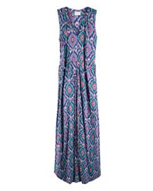 East Ikat Maxi Jersey Dress