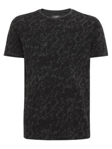 Camo splash printed t-shirt