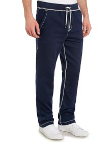 Straight Leg Tracksuit Bottoms With Contrast Stit