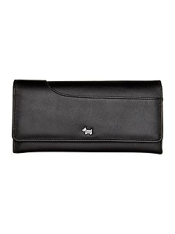 Pocket bag large black flap over purse