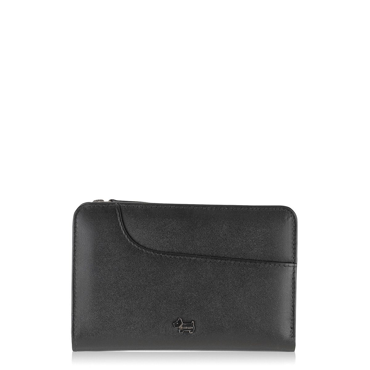 Radley Pocket bag black zip around purse Black