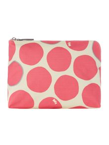 Spot on pink zip around purse