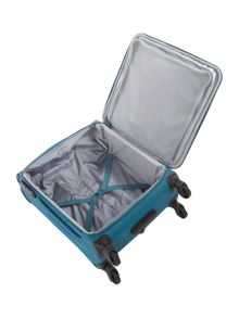Antler Aire teal 4 wheel cabin suitcase
