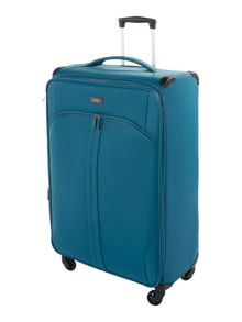 Aire teal 4 wheel large suitcase