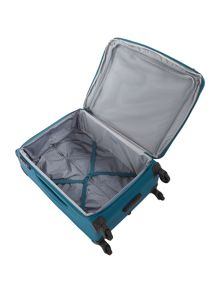 Aire teal 4 wheel  medium suitcase