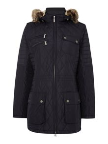 Barbour International Bimota quilt parka coat