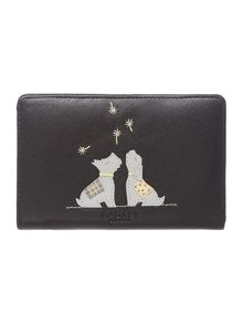 Dandy dogs black zip around purse