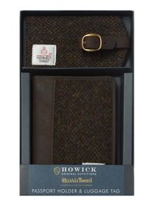 Harris Tweed Passport and Luggage Tag