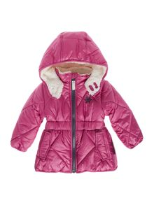 name it Girls Fleece Hood Padded Jacket