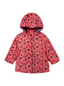 Girls Ladybird All Over Printed Detachable Hooded