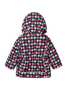 Girls Apple All Over Printed Detachable Hooded Ja