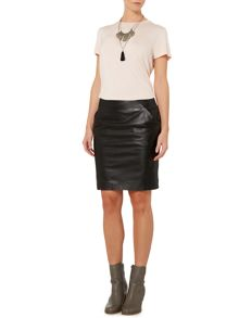 Signe leather skirt