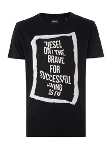 Diesel T-Pasc Regular Fit Frame Graphic T-Shirt