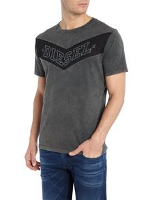 Diesel T-Patry Chevron Graphic T-Shirt