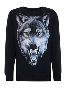 Spreymun Wolf Graphic Sweatshirt