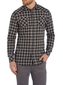 Diesel Sulf Long Sleeve Check Shirt