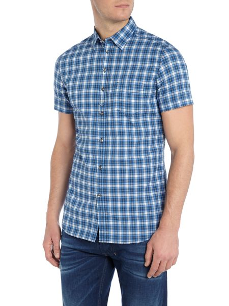 Diesel S-Jugo Short Sleeve Check Shirt