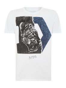 Diesel T-Migues `D` Leopard Graphic T-Shirt