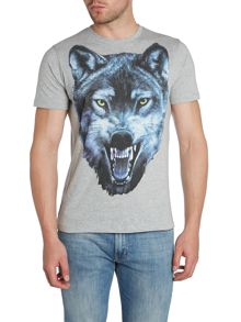 Diesel T-Mocty Large Wolf Graphic T-Shirt