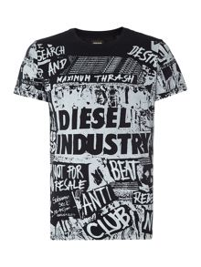 Diesel Print Crew Neck Regular Fit T-Shirt
