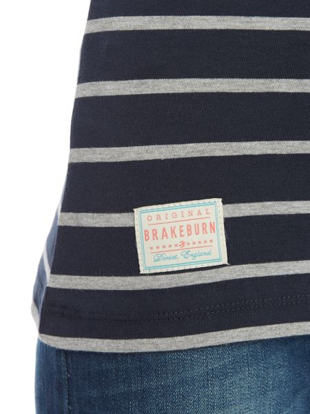Brakeburn Yarn dyed stripe long sleeve tee