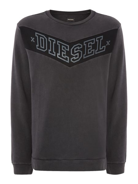 Diesel Spatry Regular Fit Chevron Sweatshirt