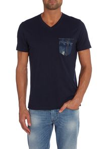 Diesel T-Bascon Regular Fit Denim Pocket T-Shirt