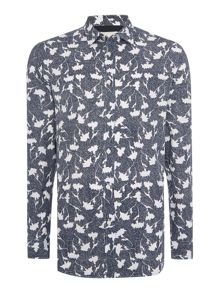 S-Terami Regular Fit Floral Long Sleeve Shirt