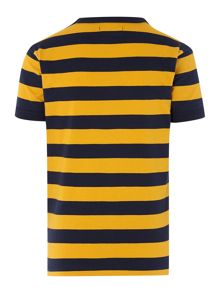 Fred Perry Boys Short Sleeved Block Stripe Tshirt