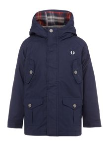 Fred Perry Boys Check Lined Parka