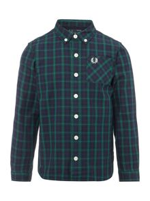 Fred Perry Boys Long Sleeved Tartan Check Shirt