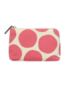 Spot on small pink zip pouch