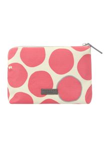 Spot on medium pink zip pouch