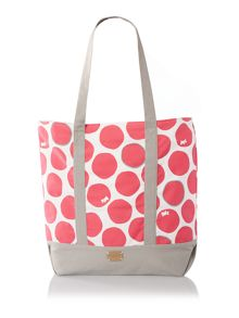 Spot on pink large tote bag