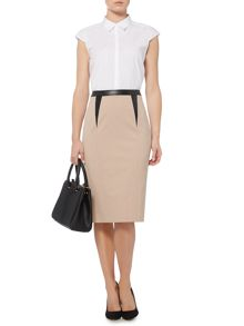 Soft tailored pencil skirt