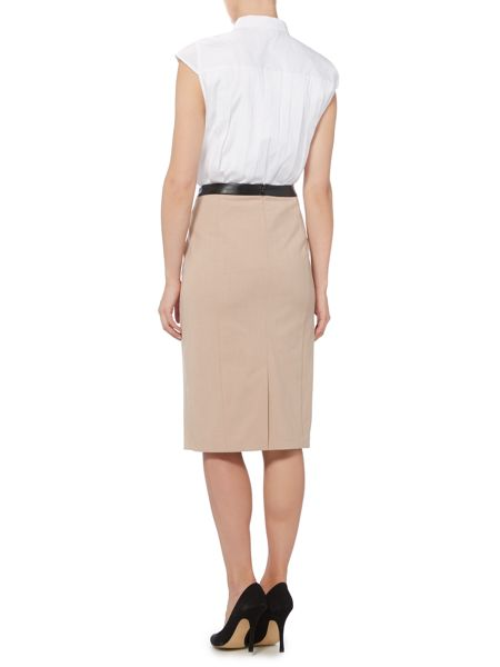 linea soft tailored pencil skirt camel house of fraser