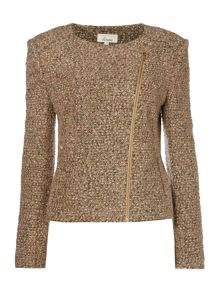 Linea Zip detail boucle jacket