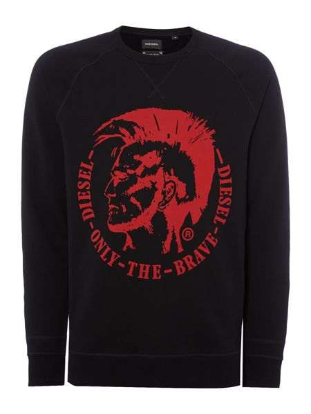 Diesel S-Orestes Mohican Graphic Hooodie