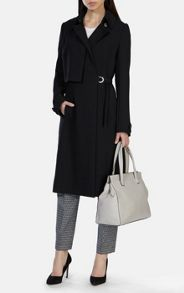 Soft tailored long line trench coat