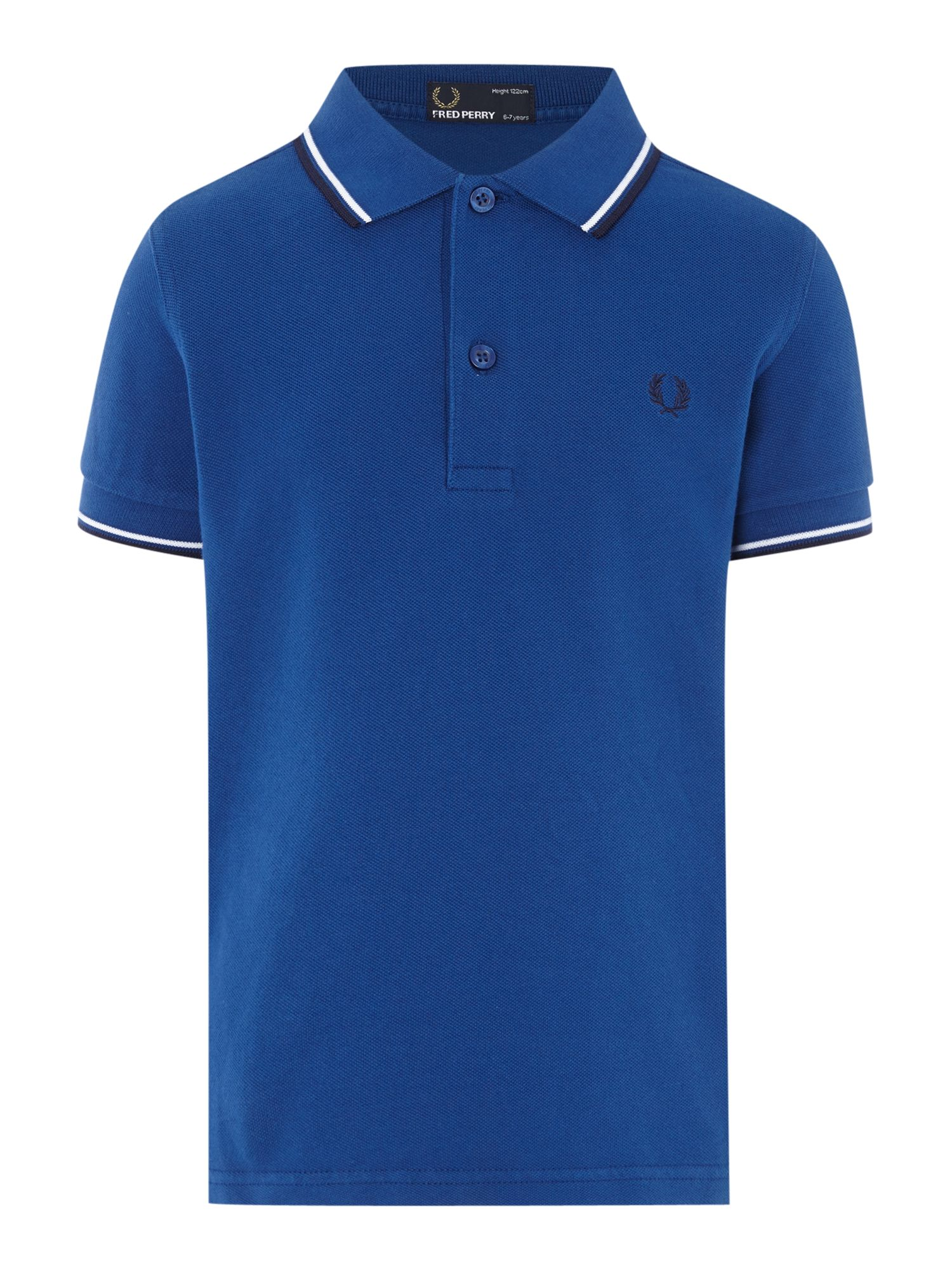 Fred Perry Boys Twin Tipped Classic Polo Shirt Royal Blue