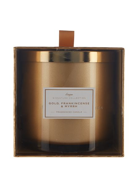 Linea Gold, Frankincense & Myrrh large candle