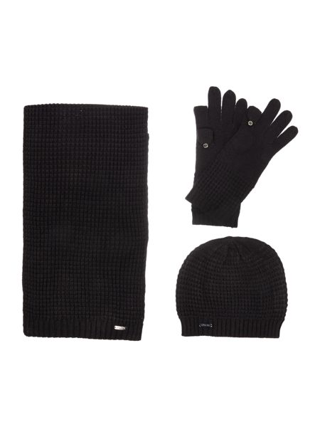Episode Waffle hat, scarf and tech glove set