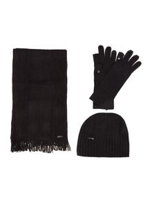 Episode Three piece set - scarf, hat, and flip tip gloves