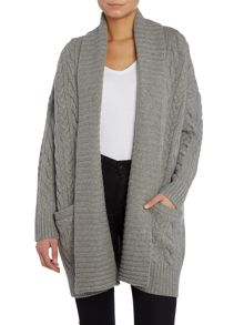 Georgia cable knit oversized cardigan